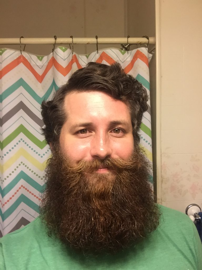 Me on the last night of having a full beard. A little less than 8 months. I used nothing but my own handmade beard products by Brewtastic Soaps the entire time.
